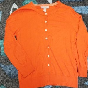 Banana Republic  Cardigan Pumpkin Colored